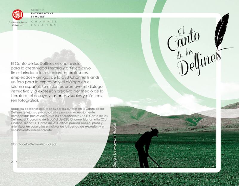 Cover of first issue of Canto de los Delfines
